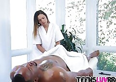 Massage gratis clips - phat ebony kut